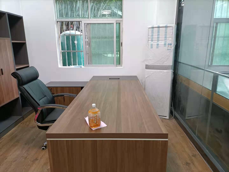 岳饰居老板桌总裁简约现代经理办公桌椅组合主管桌新款大班台办公家具1.8米单侧柜(带色卡一张)左侧柜