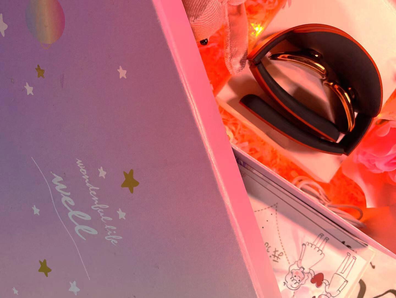 生日礼物送女友女朋友女生闺蜜老婆爱人妈妈女士女老师实用成人员工高档创意惊喜结婚纪念日新婚中秋节礼品【星月精美礼盒】皓月白折叠迷你低头族神器