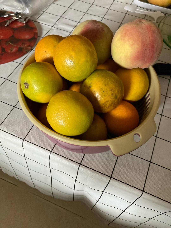 美雅风【居家必备】居家日式双层沥水篮洗菜盆客厅水果盘家用大号塑料菜篮子洗菜篮一个大号