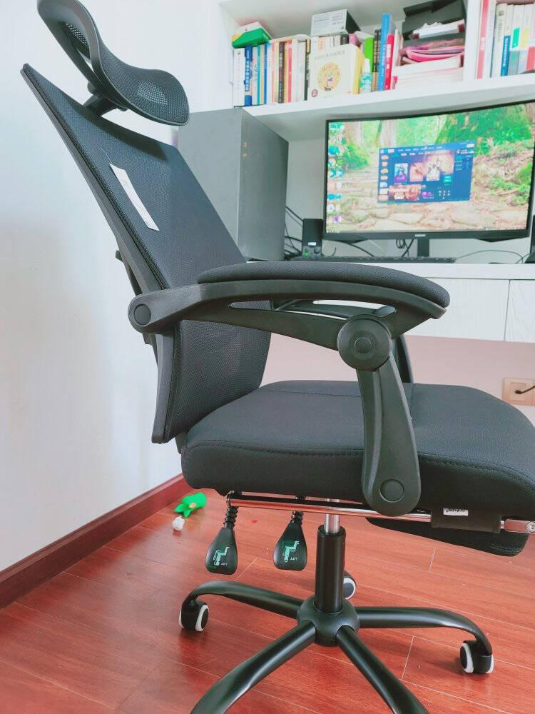 八九间电脑椅办公椅可躺人体工学座椅凳子靠背电竞椅滑轮转椅老板椅家用书房学习椅子572WS黑框黑网