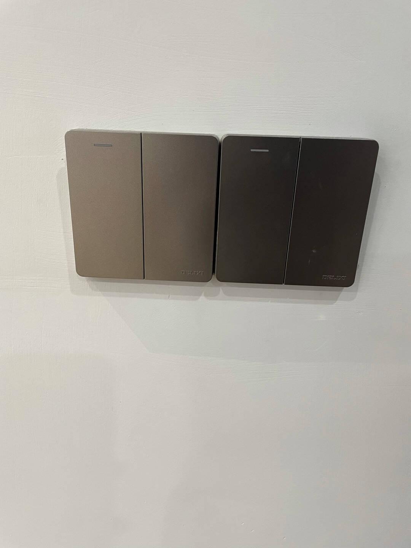 德力西(DELIXI)开关插座面板CD821系列10A斜五孔插座星辉银大板