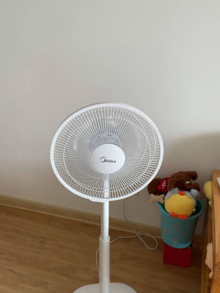 美的(Midea)电风扇立式家用卧室三叶机械款机械落地扇省电落地扇电风扇可升降FSA30YD白色