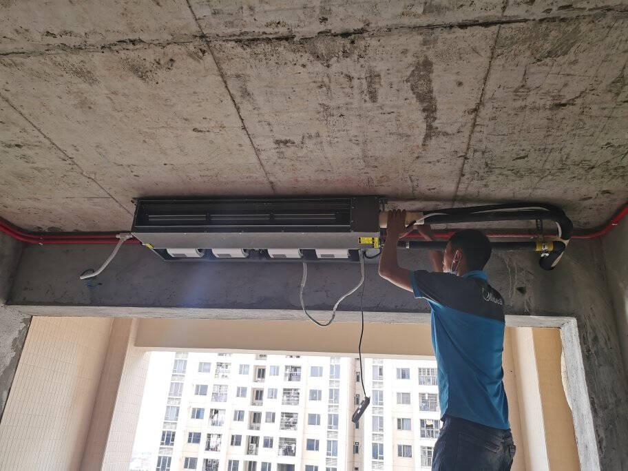 美的(Midea)风管机一拖一家用中央空调冷暖直流变频省电智能家电WIFIKFR-35T2W/BP2DN1-iX(3)Ⅱ
