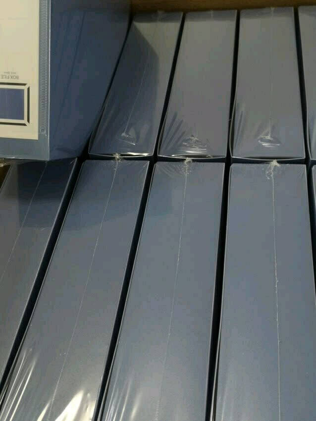 齐心(Comix)10个装55mm牢固耐用粘扣档案盒/A4文件盒/资料盒蓝色EA1018-10