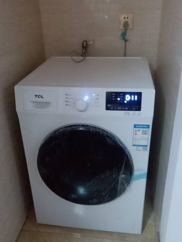 TCL滚筒洗衣机全自动洗烘一体上排水变频一级能效10KG公斤大容量静音省水高温除菌中途添衣(芭蕾白)XQG100-P300BD