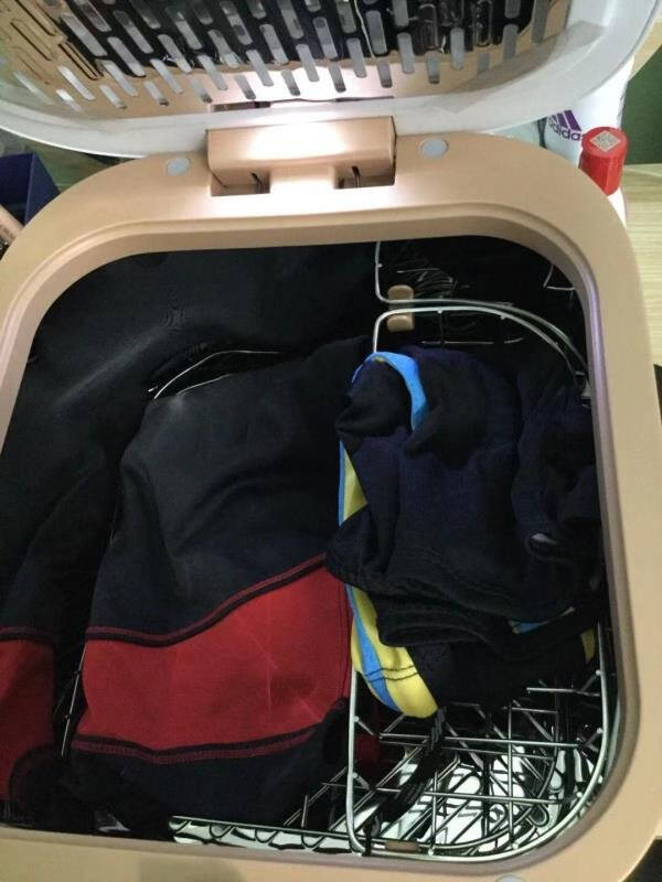 美的(Midea)内衣消毒盒带烘干机二合一紫外线杀菌玩具用品内裤消毒机杀菌器(经典款皎月白)MH-DXW02