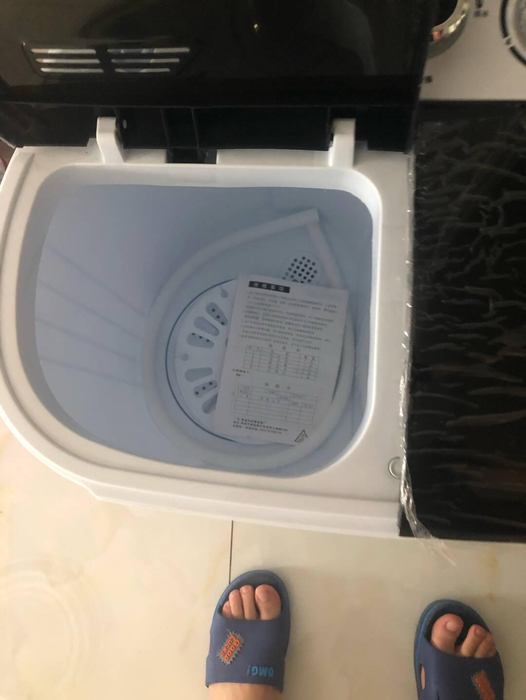 华美洗衣机单筒桶家用大容量半全自动婴儿童小型迷你宿舍洗脱一体RO双桶+强劲洗涤+蓝光仰菌+可甩干蓝白