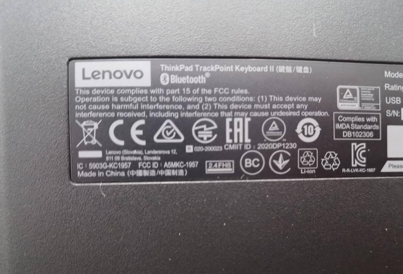 ThinkPad联想4Y40X49493小红点蓝牙无线双模键盘笔记本电脑办公键盘充电版手机平板键盘无线蓝牙双模键盘