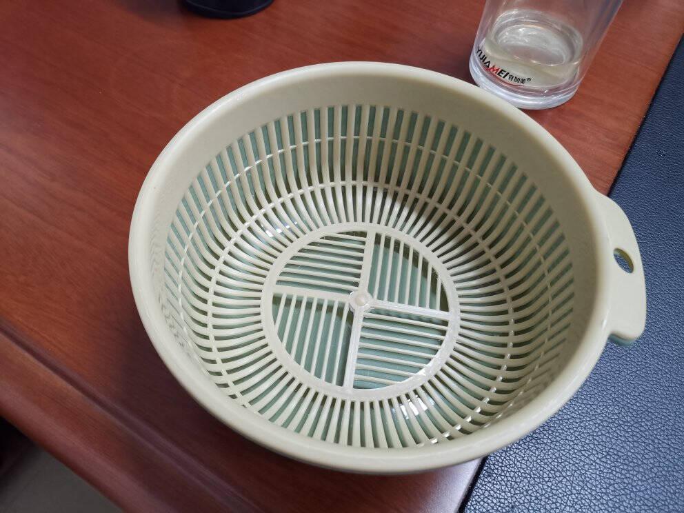 铁群岛6件套双层沥水篮3个洗菜盆厨房沥水神器家用多功能漏水篮水果篮子双层洗菜篮小号+中号+大号(3个6件套)-颜色混搭