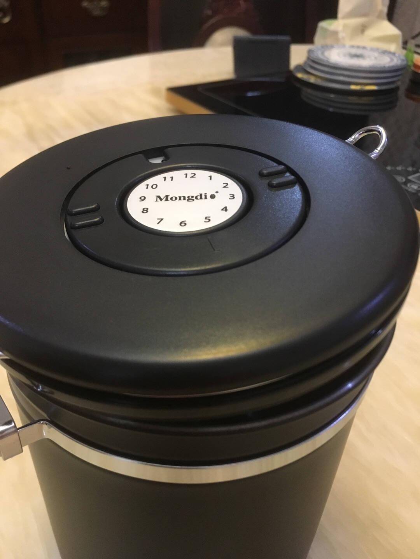 Mongdio咖啡粉密封罐304不锈钢咖啡豆保存罐储物罐干果咖啡奶粉茶叶零食保鲜带勺(密封罐)