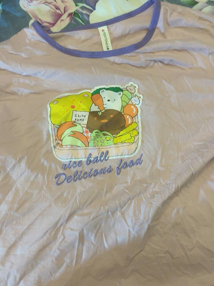 芬腾女士睡衣纯棉2021年夏季新品短袖短裤圆领套头衫可爱舒适家居服套装女灰绿L
