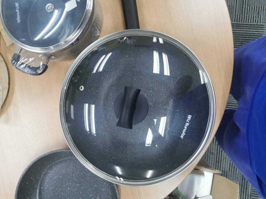 九阳(Joyoung)麦饭石色锅具套装居家不粘炒锅煎锅汤锅奶锅三件套装锅燃气灶电磁炉通用厨具套装CF-T0563