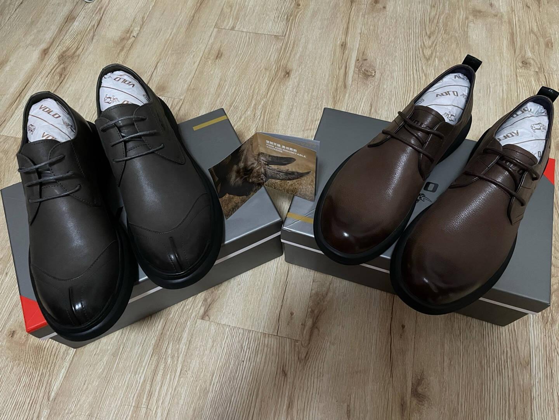 犀牛(VOLO)男鞋商务休闲鞋男士皮鞋大头鞋棕色225210031D41