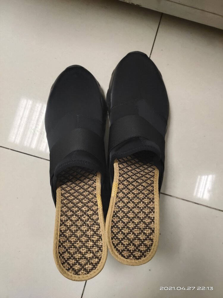 DUOZOULU多走路官方2021春夏新款男女莱卡老爹鞋走路鞋国产鞋休闲鞋5012【男女款】雅致纯黑37(女尺码偏大,拍小一码)