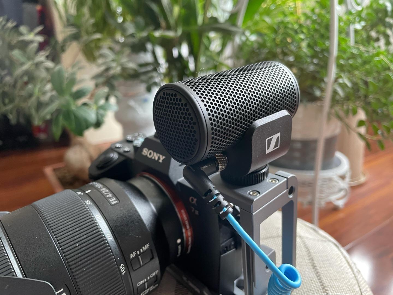 森海塞尔MKE200vlog录音话筒,手机相机专业收音设备