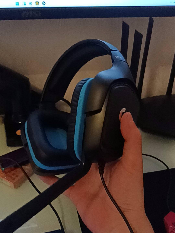 罗技(G)G4317.1环绕声游戏耳机麦克风电脑电竞耳机耳麦赛博朋克头戴式耳机吃鸡耳机G431