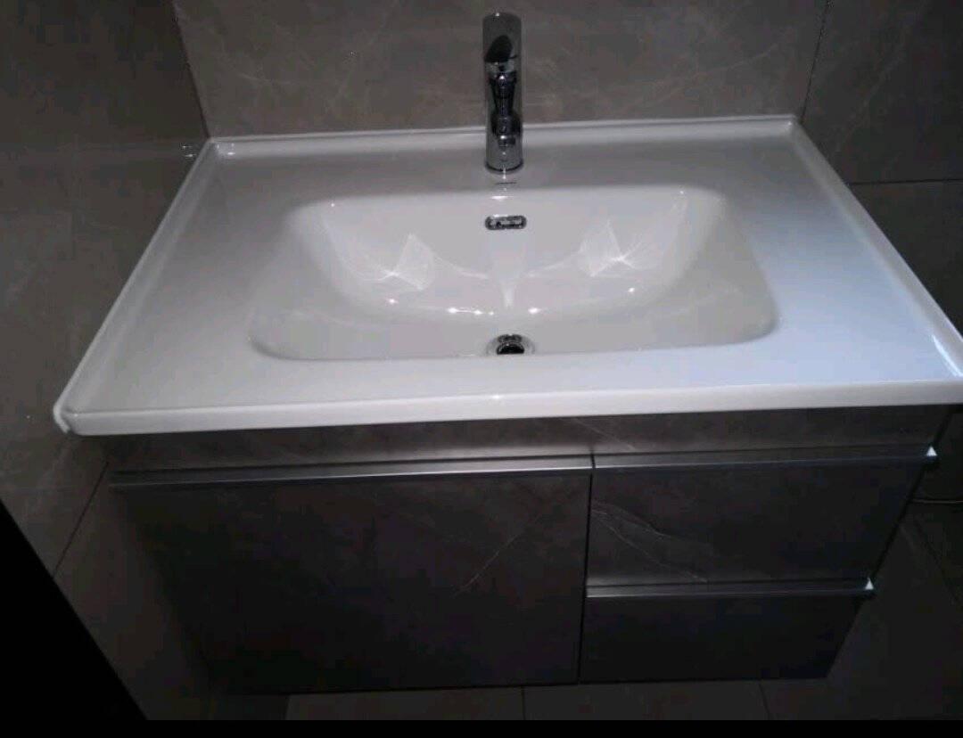 九牧(JOMOO)浴室柜工业风浴室柜组合卫生间洗漱台洗脸盆洗手盆组合柜子A270480CM-马奇灰(2255包安装)