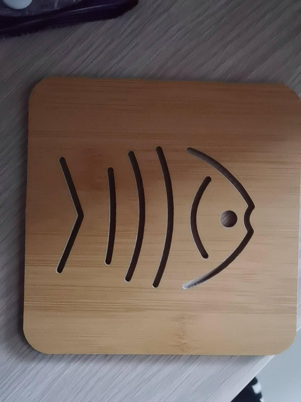 兆族木质卡通隔热垫餐桌垫锅垫创意可爱垫子茶杯垫碗垫杯垫随机款式1个装