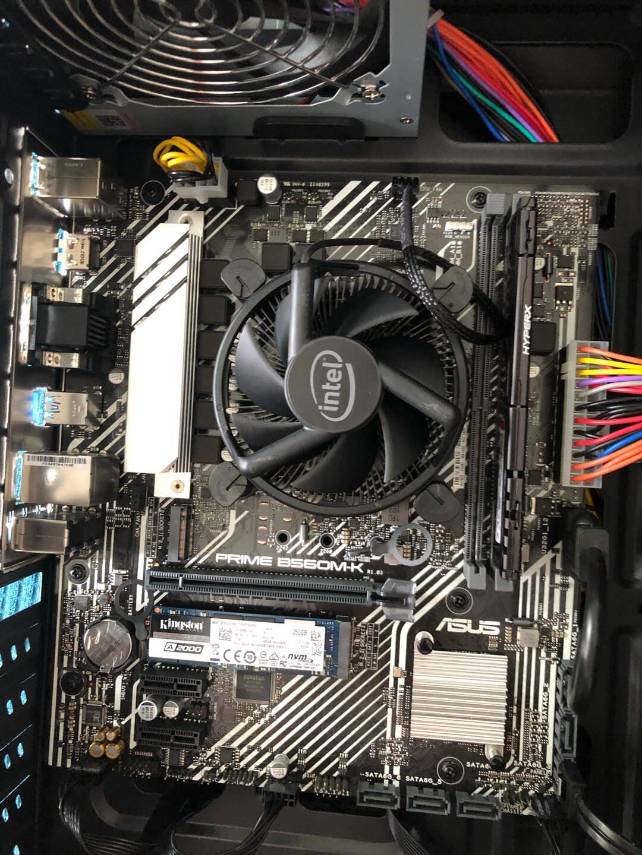 英特尔10代CPUi310105F1010510100F10100处理器CPU主板套装微星H510MBOMBER爆破弹板U套装i310105F无核显4核8线程