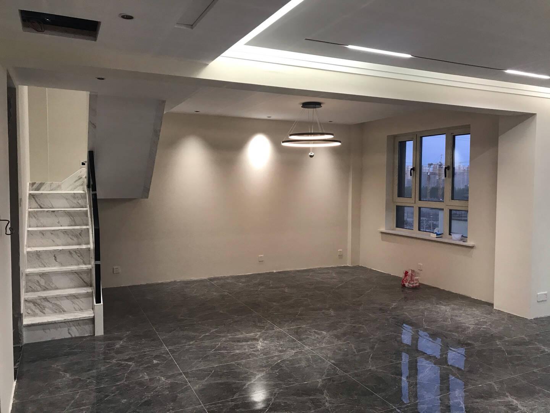 新特丽客厅吊线灯简约现代客厅吊灯圆形卧室灯led创意办公室书房灯具星环星环双层121548直径60+80cm