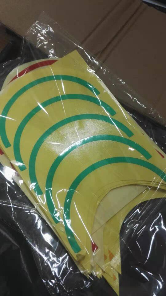 红黄绿三色压力表标识贴半圆1/2仪表盘反光仪表指示标贴5/10/15CMtt10cm绿色1/2