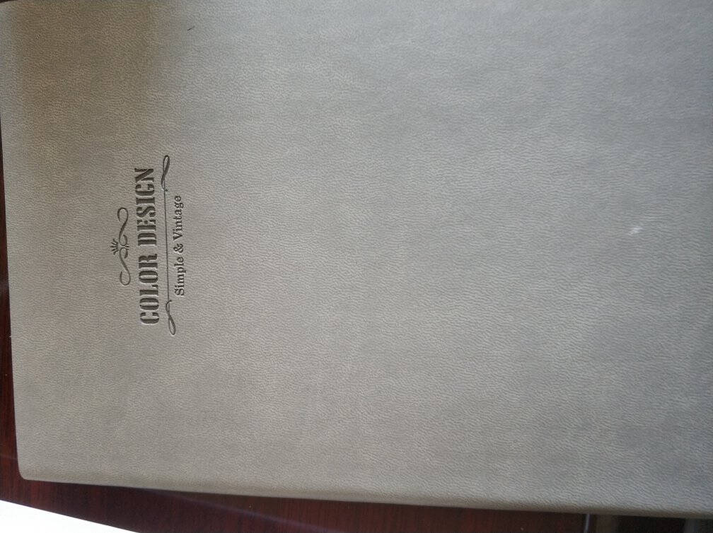 得力(deli)25K112张活力系列彩虹边缘皮面本记事本日记本笔记本子文具单本装/灰色3183