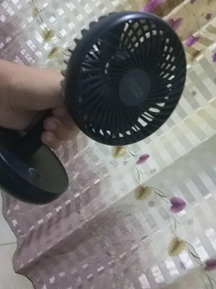 澳柯玛(AUCMA)米白电风扇桌面台式手持小风扇迷你充电usb小风扇宿舍办公室便携床头风扇蓄电小台扇FSS-B103B