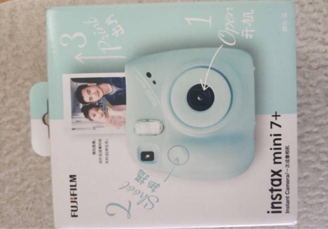 富士instax立拍立得一次成像相机mini7+(mini7c/s升级款)蓝