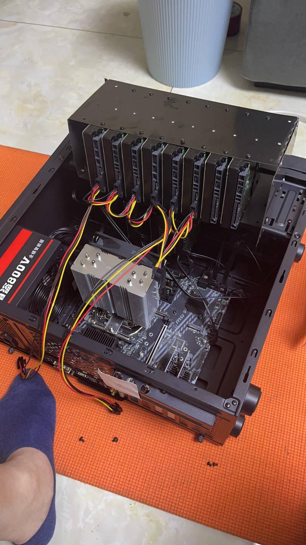 魔羯MOGE台式机PCIE转4口SATA3.0硬盘扩展卡NAS群晖硬盘卡windows/linux免驱系统启动MC26921