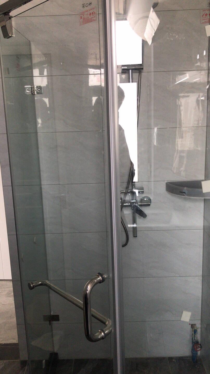 箭牌卫浴(ARROW)钻石型淋浴房干湿分离简易玻璃隔断家用沐浴房平开门卫生间浴屏900*1100不锈钢【到手价1849】现货