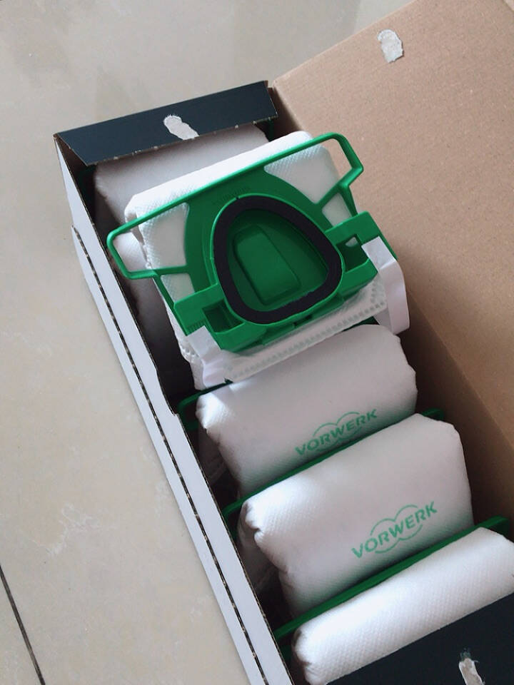 福维克(vorwerk)吸尘器配件适用VK200高效滤网锁住灰尘异味吸尘袋6只装配件吸尘器滤尘袋