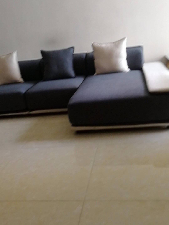 优奕酷沙发棉麻沙发客厅小户型乳胶沙发北欧布艺沙发组合简约现代科技布实木沙发海绵款(可定制颜色)三人+单人+贵妃位【3.72米】