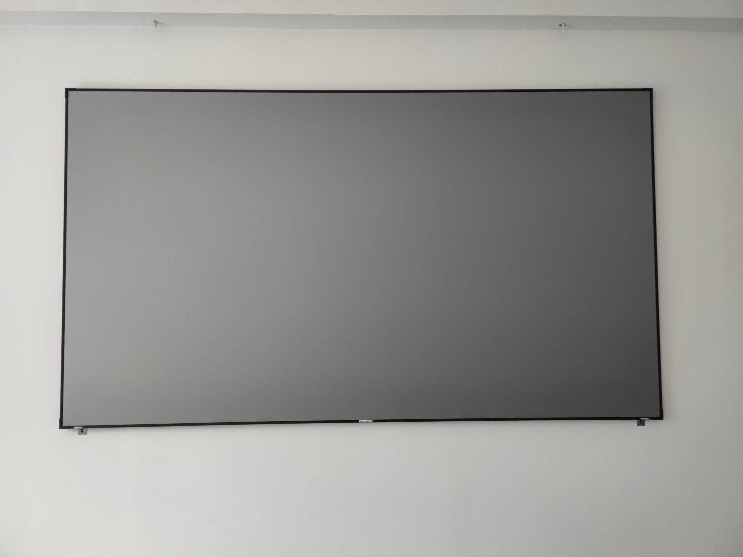高清画框窄边抗光幕布100英寸120家用办公投影仪当贝F3D4K投影仪金属光学黑钻黑晶激光电视璧挂幕影院级白色软幕80英寸(包安装)