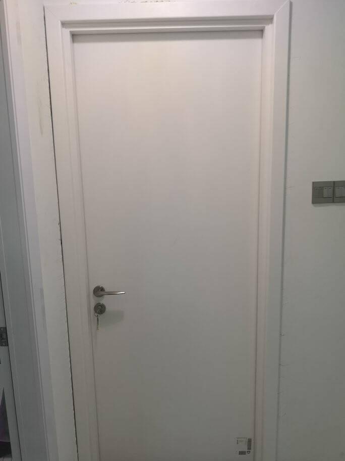 TATA木门门木质复合门定制木门室内门卧室门房门欧式门现代简约门套装门房间门免漆门@001单开门+静音锁#001+合页*2+门吸