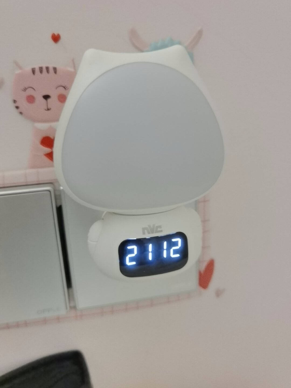 雷士照明(NVC)小夜灯时钟款婴儿喂奶灯卧室小台灯床头壁灯充电遥控感应时间显示小灯可定时睡眠夜光灯三色