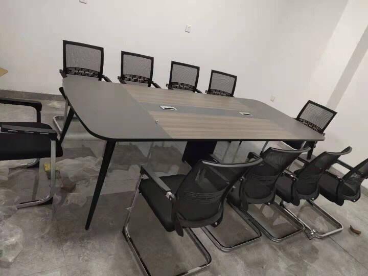 创黎会议桌长桌简约现代桌子会议办公桌6人8人10人大小型长条桌洽谈桌培训桌开会客桌会议桌椅组合材质看样小料
