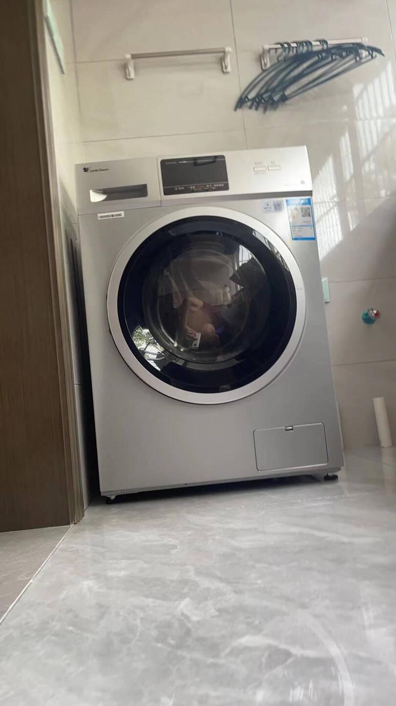 小天鹅(LittleSwan)滚筒洗衣机全自动10公斤洗烘一体带烘干家用10kg洗烘一体(银色触屏款)
