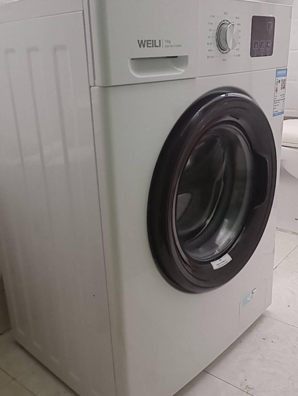 威力10公斤变频全自动滚筒洗衣机超薄机身蒸汽除菌洗高温筒自洁一级能效15分钟快洗XQG100-1016DPX