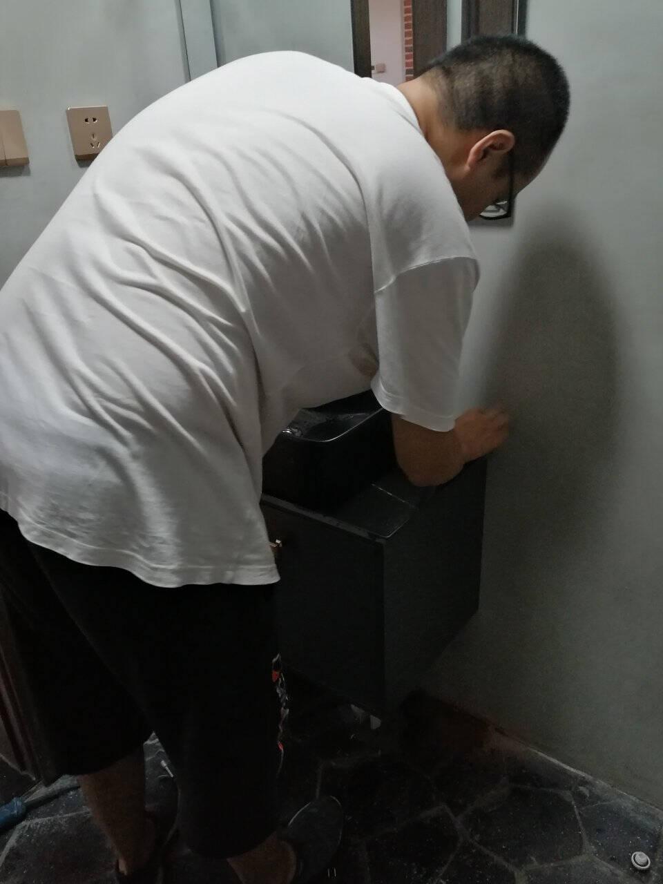 雁枫轻奢岩板一体盆小户型台上洗手脸盆柜组合浴室柜定制卫生间洗漱台三种台面可选/柜体四种颜色可选