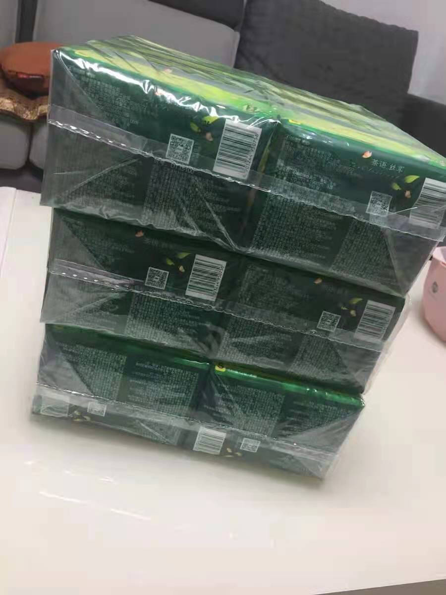心相印抽纸纸巾茶语丝享系列3层超厚100抽30包家庭装整箱餐巾纸S码面巾纸母婴可用