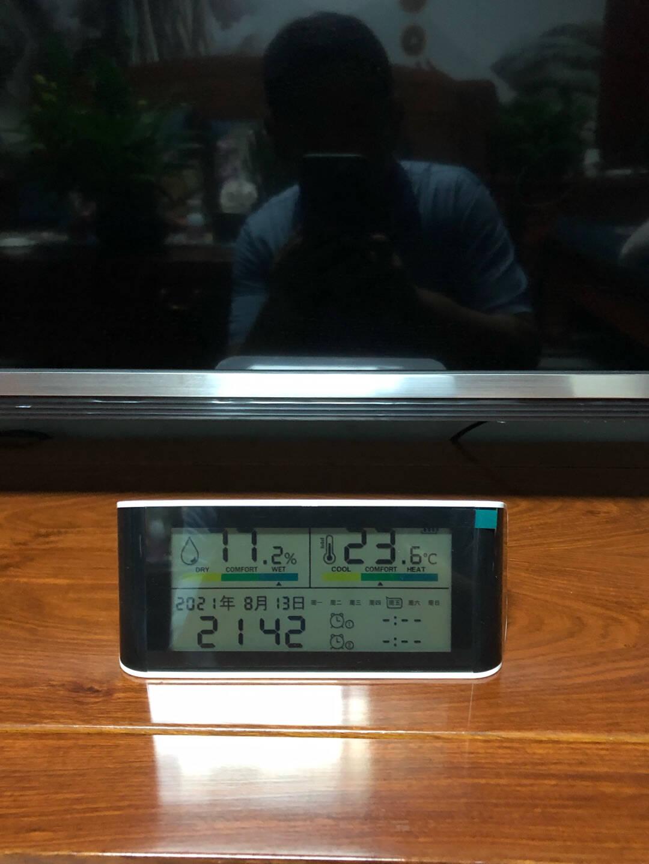 鼎盟(Dienmern)电子时钟温湿度计充电款家用室内婴儿房高精度壁挂式室温计精准温度表智能闹钟电子钟