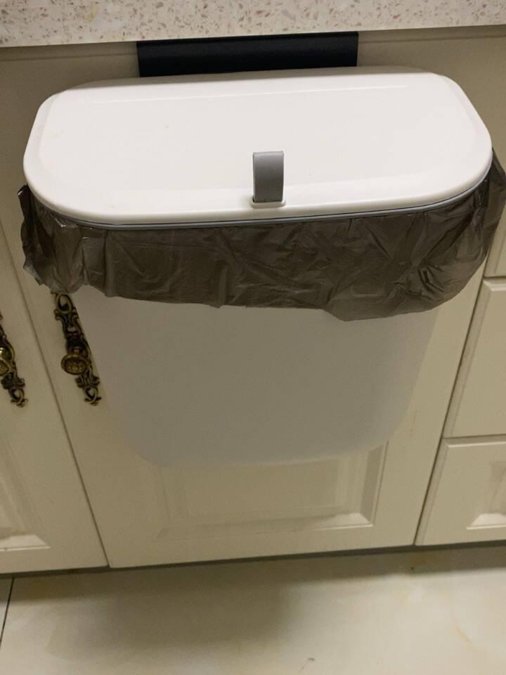 享家美壁挂垃圾桶7L带盖厨房卫生间可悬挂粘贴厨房客厅卫生间通用