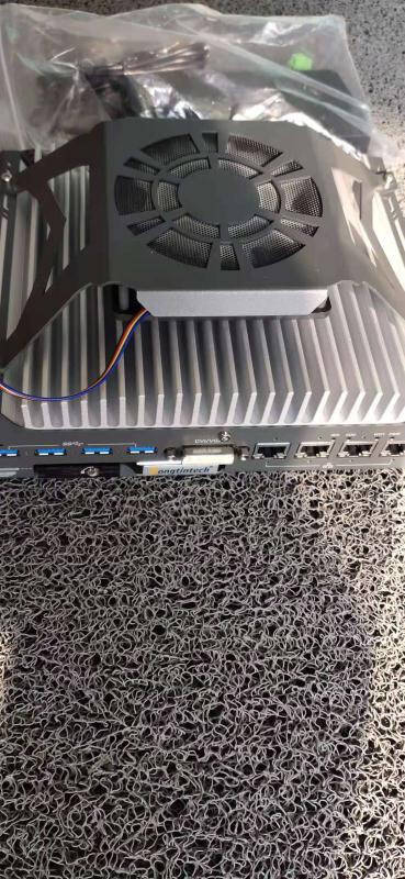 Dongtintech东田酷睿9代无风扇嵌入式工控机4USB3.1硬盘迷你微型工控机DTB-3049-H310/I3-9100T4G/1T/19V/KM