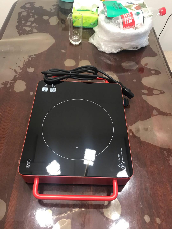 米技Miji电陶炉电磁炉德国米技炉家用煮茶炉超长定时双圈烹饪LED显示升级款D6金色2000W