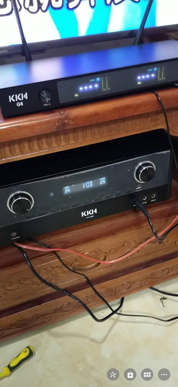 KKHS10点歌机家庭ktv音响套装一体机影院卡拉ok家用主机会议室设备音箱功放点唱台客厅V62黑色版2TB套装