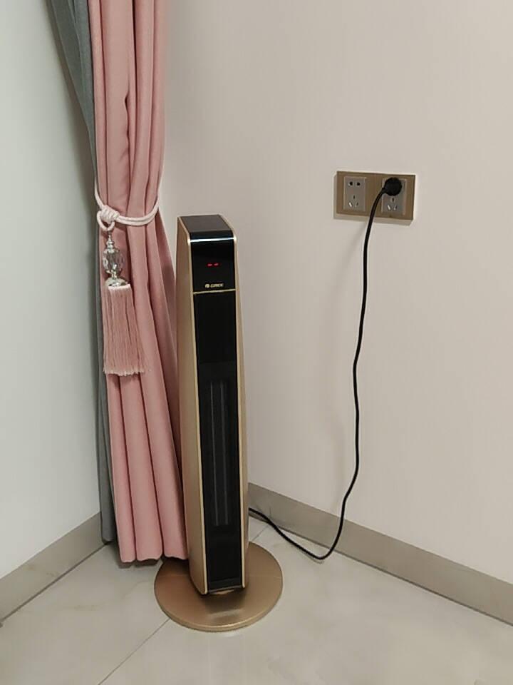 格力(GREE)暖风机家用取暖器冷暖两用大功率电暖器暖气机塔式电热风扇遥控制热NTFG-21B黑金色