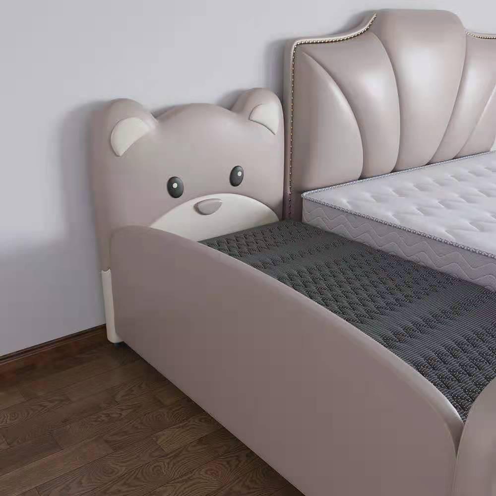 酷贝都拼接床儿童陪伴床科技布实木床真皮现代简约可合并大床加宽【科技布】单床(含梯子)800mm*1900mm