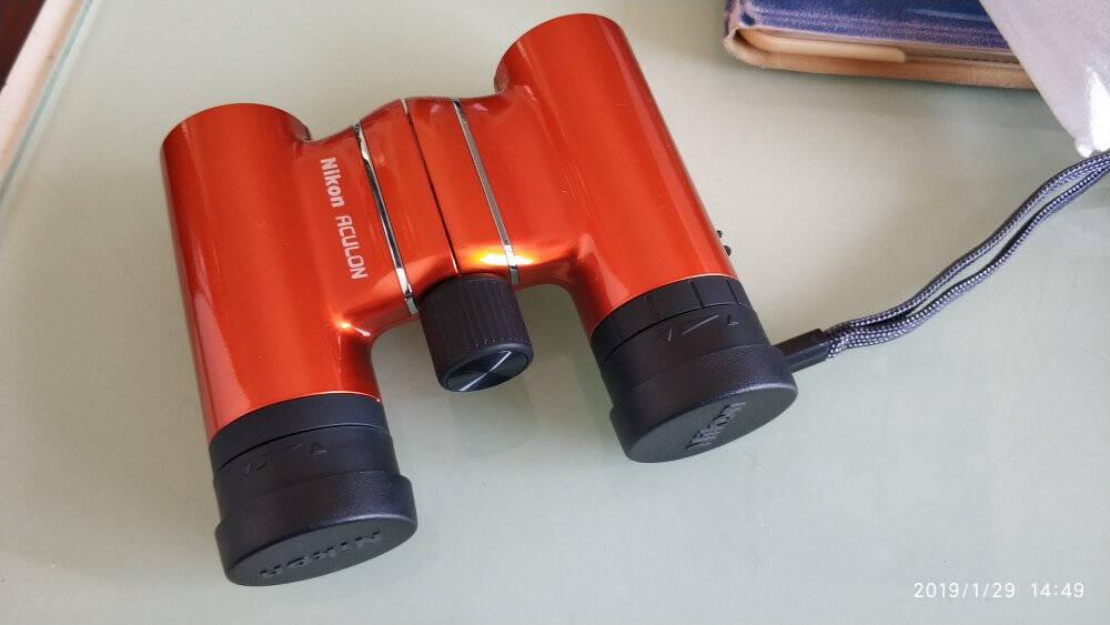 尼康(Nikon)阅野ACULONT018X21ORANGE户外防水双筒望远镜多彩轻便望远镜