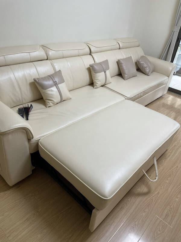 海马佳域床皮床北欧实木真皮床1.8米双人床2米2.2米大床现代简约软靠主卧家具婚床真皮床150*200框架床
