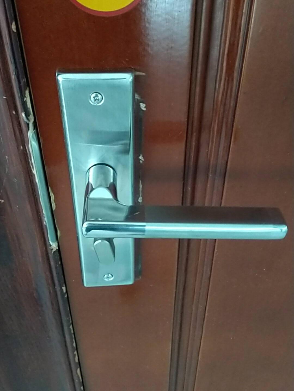 飞球(Fly.Globe)门锁室内卧室房门锁防盗不锈钢门把手静音锁具可调节孔距通用型KT001